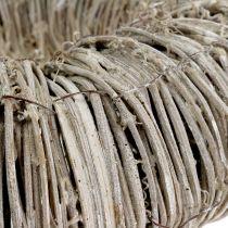 Corona de clemátide blanqueada Ø30cm