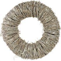 Corona de clemátide blanqueada Ø40cm