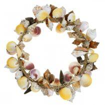 Guirnalda decorativa conchas y caracoles naturaleza Decoración marítima Ø30cm