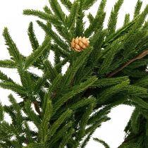 Corona de ciprés artificial con conos Corona decorativa de ciprés Ø55cm