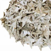 Guirnalda deco estrellas corteza de abedul decoración de mesa Abedul de Adviento Ø25cm