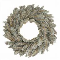 Corona decorativa conos Corona de Adviento corona de puerta blanca, purpurina Ø35cm