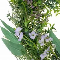 Guirnalda decorativa eucalipto, helecho, flores Guirnalda artificial Guirnalda de mesa