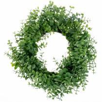 Corona eucalipto verde Ø36cm