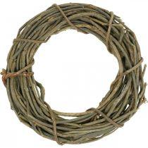 Corona decorativa hecha de ramas naturales Ø40cm corona natural