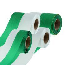 Cintas de guirnalda Moiré verde-blanco vers. Ancho 25m