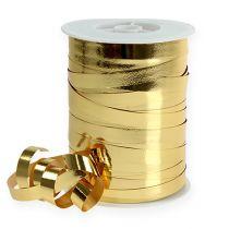 Cinta rizada brillante 10mm 250m oro