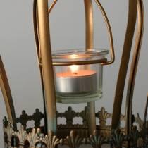 Porta vela candelabro Deko dorado Ø19cm H29cm