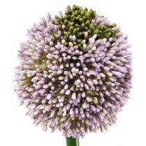 Flores artificiales Allium Violeta Ø10cm L65cm