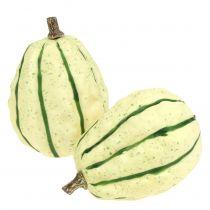 Crema de calabaza decorativa, verde 11cm 6pcs