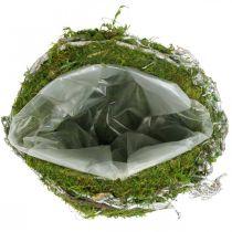 Grave decoración bola enredaderas verde musgo, blanco lavado Ø20cm