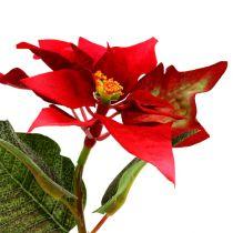 Flores artificiales flor de pascua roja L73cm