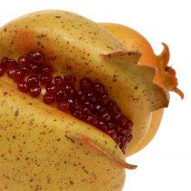 Granada de fruta artificial con semillas Ø6cm - Ø7cm L18cm