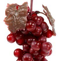 Uvas de frutas artificiales rojas 22cm