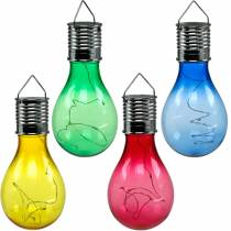 Decoración de jardín bombilla LED solar surtida 15cm 4pcs