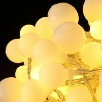 Luces LED de hadas Cerezo blanco cálido 9m 120LED