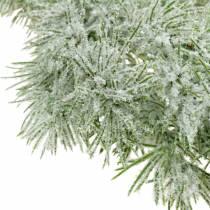 Guirnalda de alerce con purpurina y nieve 160cm