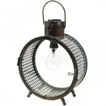 Lámpara solar lámpara de metal balcón deco diseño industrial Ø23cm