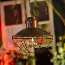 Lámpara colgante LED, lámpara colgante rústica, con energía solar Ø24.5cm H24cm