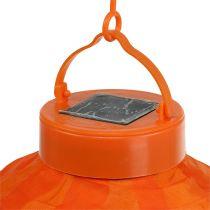 Lampion LED con solar 20cm naranja