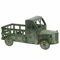 Camión maceta gris zinc, verde 42 × 17.5 × 19.5cm