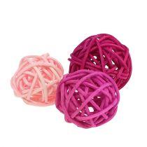 Lataball Surtido 3cm Rosa / Rosa / Lila 72 piezas