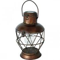 Linterna solar, lámpara colgante LED aspecto industrial Ø16cm H32cm