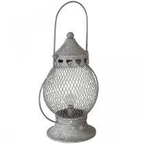 Farol de metal, lámpara LED, Shabby Chic Ø16cm H33.5cm
