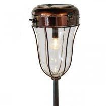 Linterna solar para enchufar, tubo de luz LED Ø13.5cm L58cm H21cm