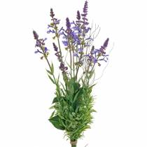 Ramo de lavanda artificial, violeta lavanda decorativa, flores de seda