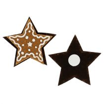 Estrellas de pan de jengibre 4.5cm para pegar 12pcs
