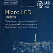 Cascada de luz Micro-LED Blanco frío 720er H130cm