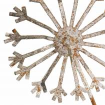 Tapón de jardín diente de león metal oxidado Ø13 / 15 H66cm