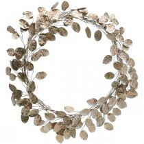 Guirnalda decorativa hoja de plata guirnalda artificial de hojas champagne Ø59cm
