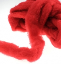 Alfombra de lana 10m rojo
