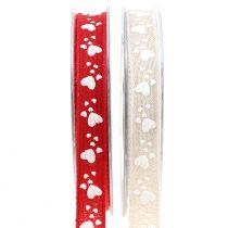 Cinta de regalo para la decoración con corazón 15mm 15m