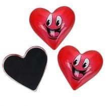Imán Corazón Smeili Rojo 4cm 6pcs