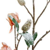 Rama de magnolia rosa claro L 82cm