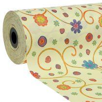 Cuff paper 25cm 100m crema con flores
