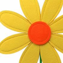 Flor de fieltro amarillo, naranja, verde Ø25.5cm x H68cm escaparate