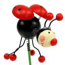 Ladybug en la varilla 5cm 12pcs