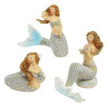 Figura para decorar Mermaid Blue 6cm - 9,5cm 3 piezas