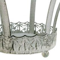 Corona de metal para decoración Ø20.5cm H26cm