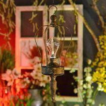 Linterna LED, lámpara decorativa, aspecto antiguo, Ø16cm H43cm