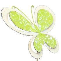 Metal plug mariposa verde, rosa 52cm 2pcs