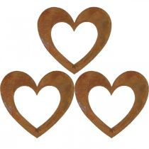 Corazón del metal de la decoración del jardín del moho 10cm 12pcs