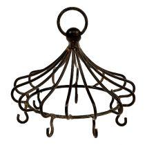 Corona de metal para colgar marrón