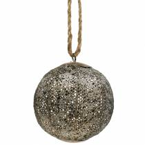 Bola de metal antigua para colgar Ø10,5cm