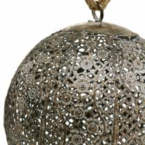 Bola de metal antigua para colgar Ø13,5cm