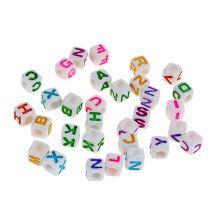 Mini cubo con letras 7mm color 90g